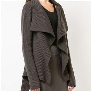 Rick Owens XL women's wool waterfall sweater NWT